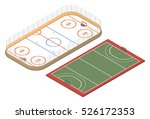 isometric ice hockey rink and... | Shutterstock .eps vector #526172353