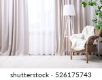 modern room interior with... | Shutterstock . vector #526175743