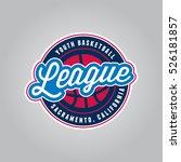 basketball league logo. modern... | Shutterstock .eps vector #526181857