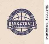 basketball tournament logo.... | Shutterstock .eps vector #526181983