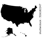 map of the united states of... | Shutterstock .eps vector #526182247