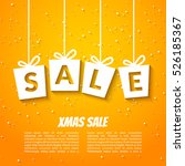 christmas sale poster template. ... | Shutterstock .eps vector #526185367
