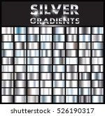 set of silver gradients... | Shutterstock .eps vector #526190317
