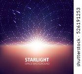 starlight  space background ...   Shutterstock .eps vector #526191253