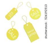 business logo gold sale labels... | Shutterstock .eps vector #526192513