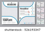 design color flyers a4.... | Shutterstock .eps vector #526193347