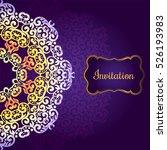 wedding invitation  delicate...   Shutterstock .eps vector #526193983