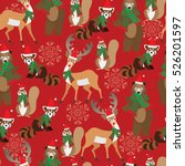 christmas background pattern.... | Shutterstock .eps vector #526201597