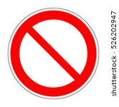 red no  not allowed symbol on... | Shutterstock . vector #526202947