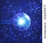 future space background. vector ... | Shutterstock .eps vector #526205977