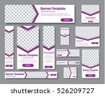 design web banners of different ... | Shutterstock .eps vector #526209727