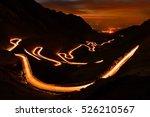 traffic trails on... | Shutterstock . vector #526210567