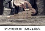 businessman building a graph or ...   Shutterstock . vector #526213003