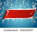 red empty realistic curved... | Shutterstock .eps vector #526218337