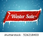 winter sale background with red ... | Shutterstock .eps vector #526218403