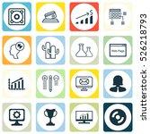 set of 16 universal editable... | Shutterstock .eps vector #526218793