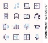 media web icons set | Shutterstock .eps vector #526221847