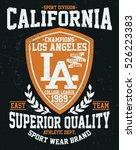 california sport division ... | Shutterstock .eps vector #526223383