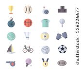 sport icons set of vector...   Shutterstock .eps vector #526226677
