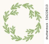 Green Christmas Wreath. Pine...