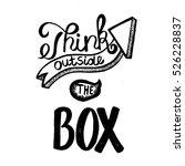 "hand written phrase ""think... | Shutterstock .eps vector #526228837"