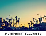 colorful sunset in venice ... | Shutterstock . vector #526230553