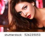 portrait of beautiful woman... | Shutterstock . vector #526235053