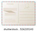 old vintage postcard.vector... | Shutterstock .eps vector #526235143