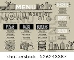 cafe menu food placemat... | Shutterstock .eps vector #526243387