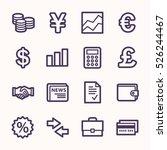 finance web icons set | Shutterstock .eps vector #526244467