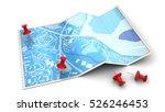 3d illustration of city map... | Shutterstock . vector #526246453