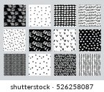 vector set of hand drawn... | Shutterstock .eps vector #526258087