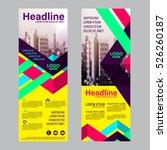 modern roll up layout template. ... | Shutterstock .eps vector #526260187