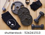 top view of accessories for... | Shutterstock . vector #526261513