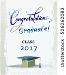 congratulations graduate for... | Shutterstock .eps vector #526262083