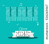 music notes. vector abstract... | Shutterstock .eps vector #526265467