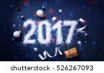 art merry christmas and 2017...   Shutterstock . vector #526267093