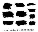 set of black paint  ink brush... | Shutterstock .eps vector #526273003