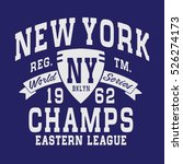 new york sport typography  t... | Shutterstock .eps vector #526274173
