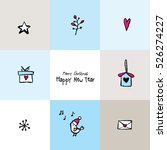 new year greeting card with... | Shutterstock .eps vector #526274227