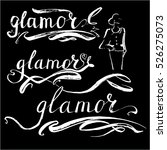 glamour word vector letterynh | Shutterstock .eps vector #526275073