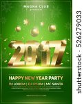 xmas and new year party club... | Shutterstock .eps vector #526279033