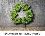 eco concept. the green plant in ... | Shutterstock . vector #526279057