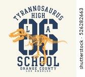 athletic sport tyrannosaurus... | Shutterstock .eps vector #526282663