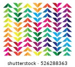 color leaves abstract background | Shutterstock .eps vector #526288363