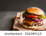 delicious fresh homemade burger ... | Shutterstock . vector #526289113