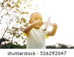 little kid playing with... | Shutterstock . vector #526292047