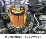 engine oil filter cross section ... | Shutterstock . vector #526299157