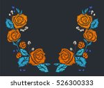 rose patches set  flower... | Shutterstock .eps vector #526300333