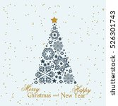 christmas tree from beautiful... | Shutterstock .eps vector #526301743